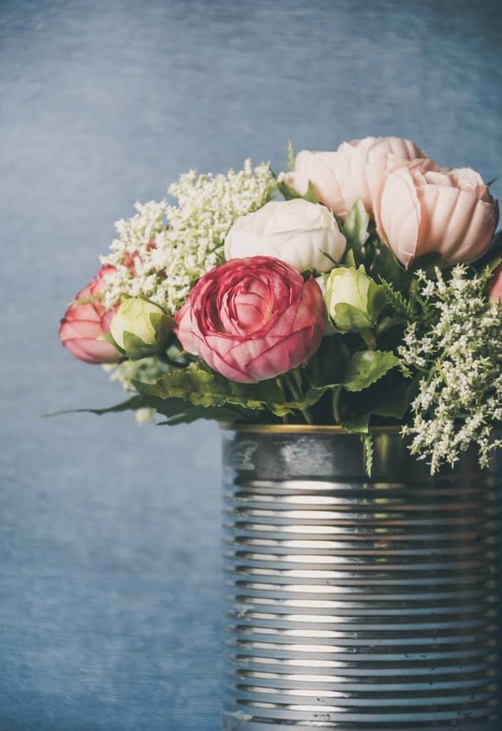 DIY boite de conserve en pot à fleur