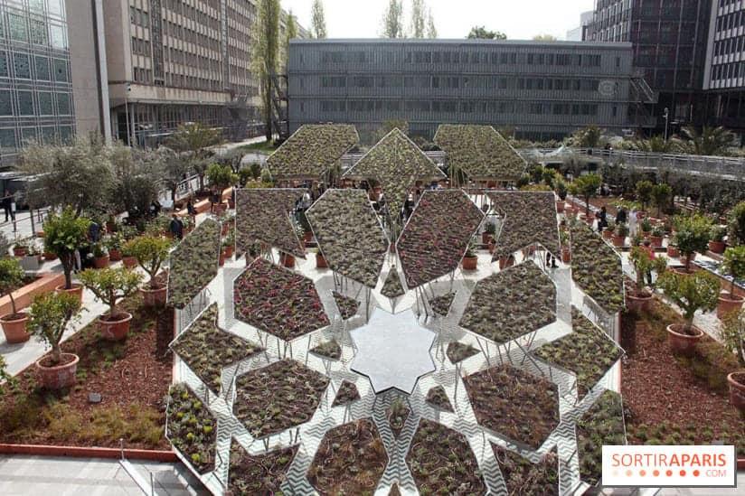 jardin oriental de l'institut du monde arabe
