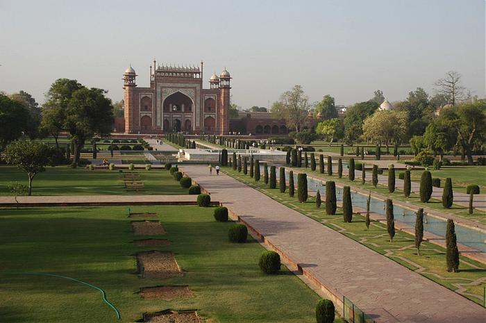 jardin chabar bagh en Inde au Taj Mahal