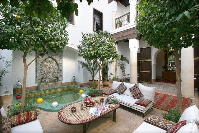 cour de jardin de style arabe