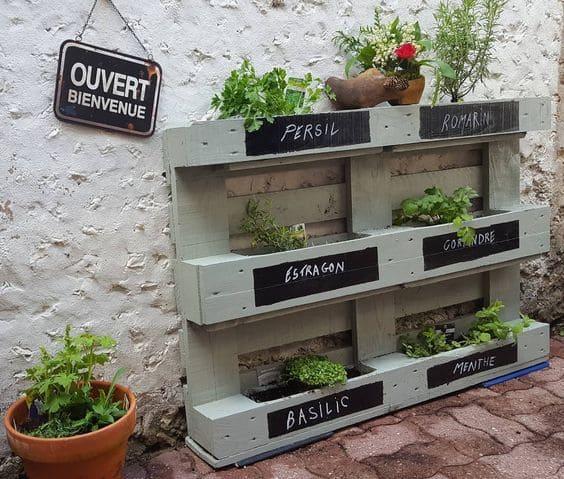 jardiniere aromates palette
