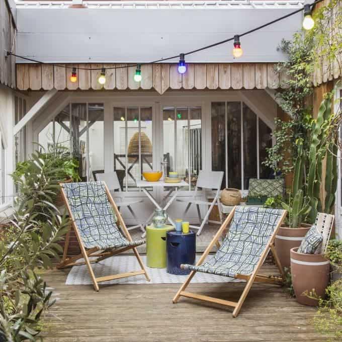 aménagement d'une petite terrasse