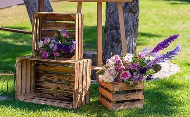 Une jardinière en palette de bois