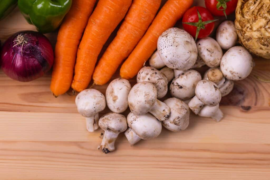 carottes et champignons